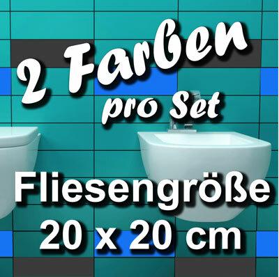 FA704 Fliesenaufkleber 1qm Fliesenfolie Badezimmer 20x20