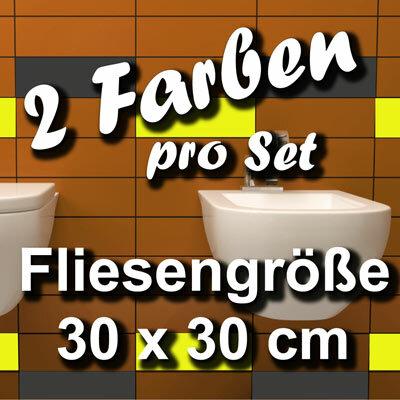 FA706 Fliesenaufkleber 1qm Fliesenfolie Badezimmer 30x30