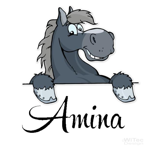 Türaufkleber Pferd Name Kinderzimmer Türtattoo