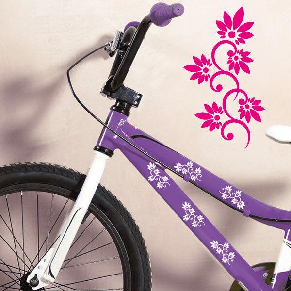 Fahrrad Aufkleber Blumen Ranke Abc Aufkleberde