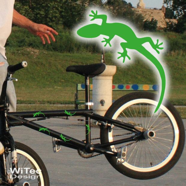 Fahrrad Aufkleber Gecko Gekko Abc Aufkleberde
