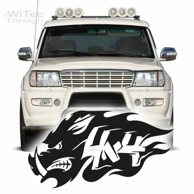Autoaufkleber Wildschwein 4x4 Auto Aufkleber