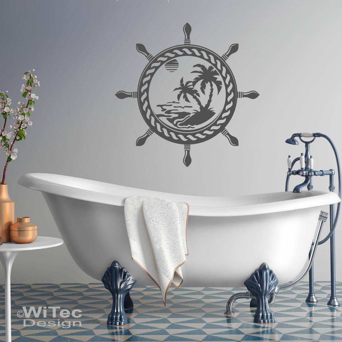 Wandtattoo Steuerrad Südsee Badezimmer Wandaufkleber