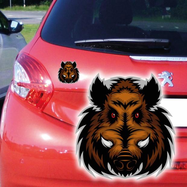 Autoaufkleber Keiler Wildschwein Auto Aufkleber Digitaldruck