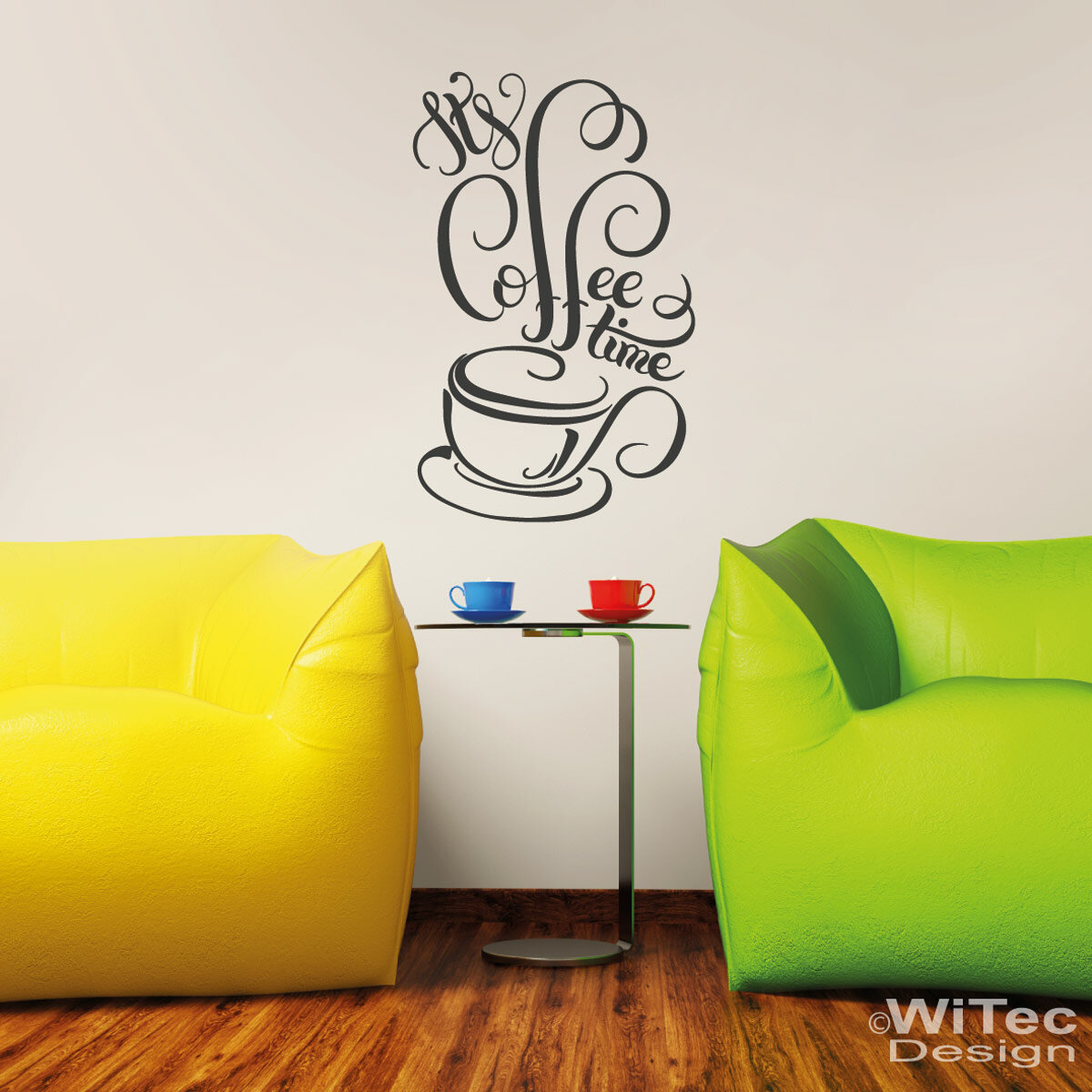 wandtattoo its coffee time wandaufkleber k che kaffee. Black Bedroom Furniture Sets. Home Design Ideas