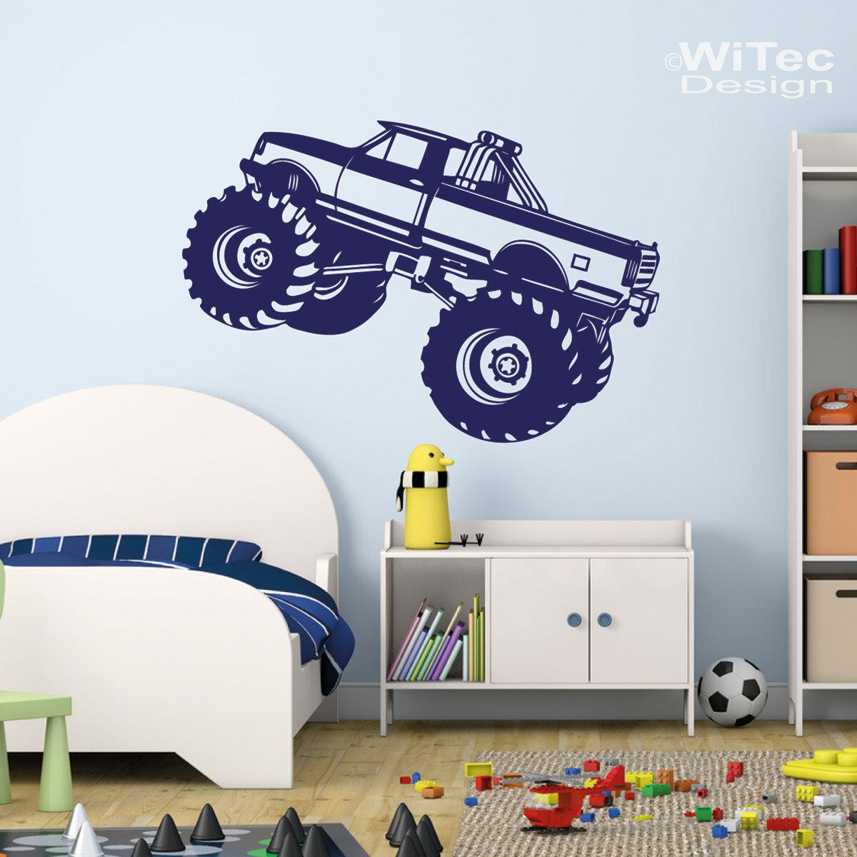 Wandtattoo monstertruck wandaufkleber kinderzimmer for Kinderzimmer wandaufkleber