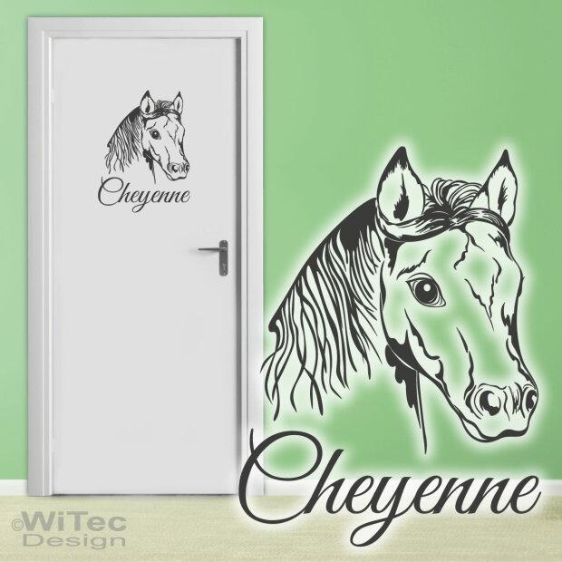 wandtattoo pferde zitat gl ck pferd wandaufkleber. Black Bedroom Furniture Sets. Home Design Ideas