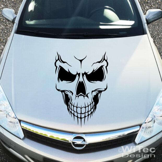 Autoaufkleber Totenkopf Skull Aufkleber Motorhaube