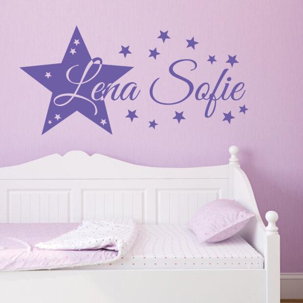 Wandtattoo Kinderzimmer Stern Und Wunschname