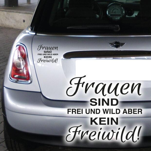 Autoaufkleber Frauen Wild Frei Freiwild Auto Aufkleber