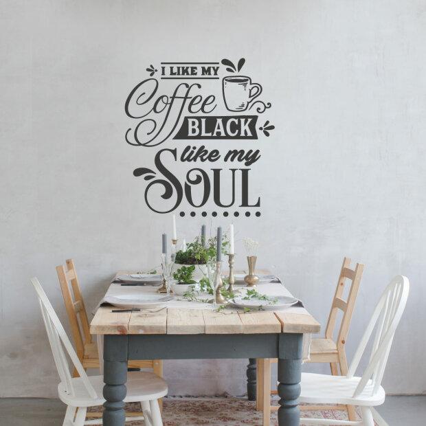 Wandtattoo Kaffee Küche Lounge Wandaufkleber