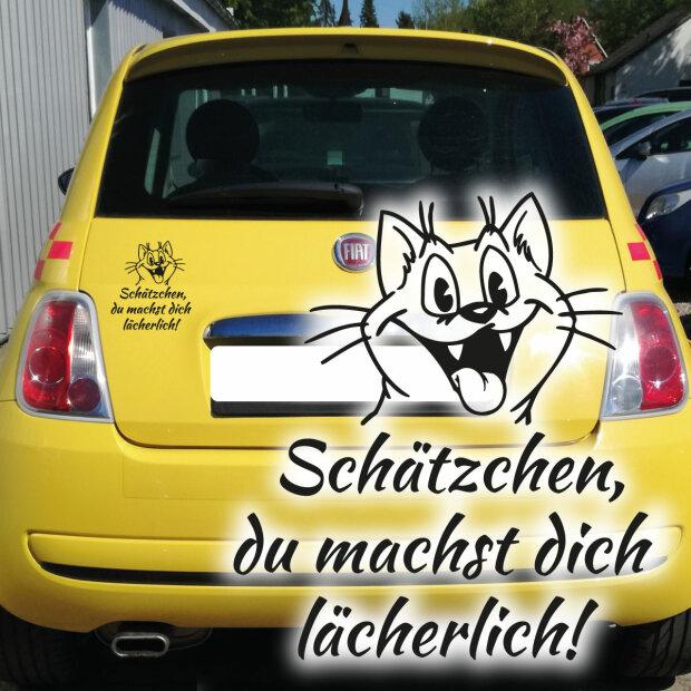 Autoaufkleber Katze Spruch Schätzchen Lächerlich Fun Auto Aufkleber