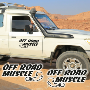 Aufkleber OFF ROAD MUSCLE Auto 4x4 Offroad 2er Set