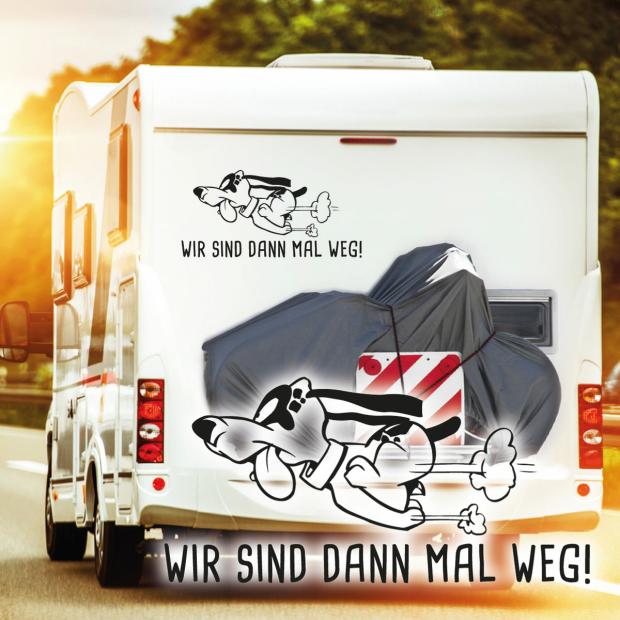 Wohnmobil Aufkleber Hund Wir Sind Dann Mal Weg Auto Womo