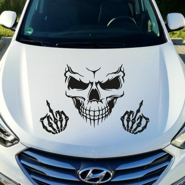 Autoaufkleber Totenkopf Skull Fuck You Abc Aufkleberde