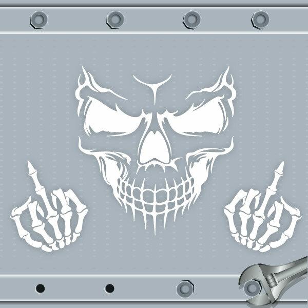 Autoaufkleber Skull Totenkopf Fuck You Aufkleber Motorhaube