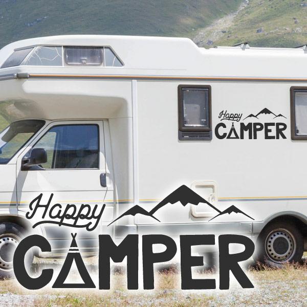 Wohnmobil Aufkleber Happy Camper Tattoo Caravan Womo