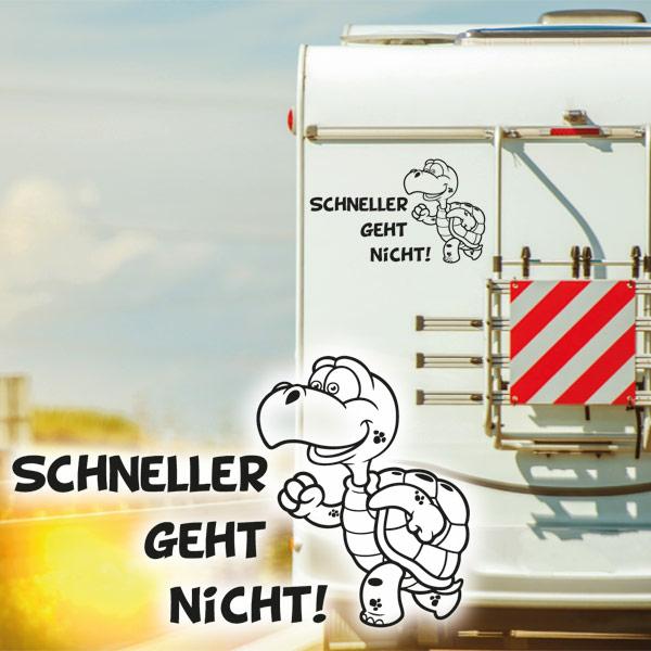 Wohnmobil Aufkleber Schneller Geht Nicht Mit Schildkröte Wohnwagen