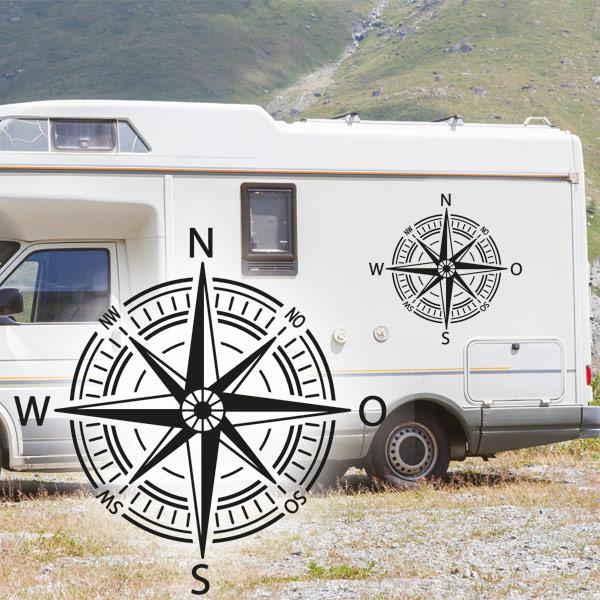 Wohnmobil Aufkleber Kompass Windrose Abc Aufkleberde