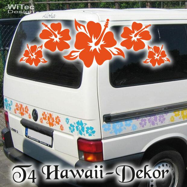 autoaufkleber hisbiskus f r t4 bus vw hawaii aufkleber. Black Bedroom Furniture Sets. Home Design Ideas