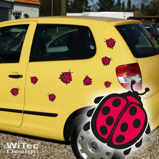 Autoaufkleber Marienkäfer Käfer Auto Aufkleber