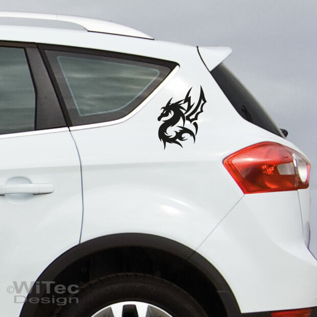 AA079 Drache Drachen Dragon 2x Tribal Tattoo Aufkleber sticker