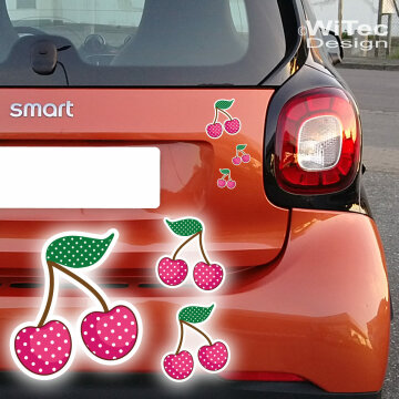 Auto Aufkleber Kirschen Rockabilly SET Pink Sticker Tattoo
