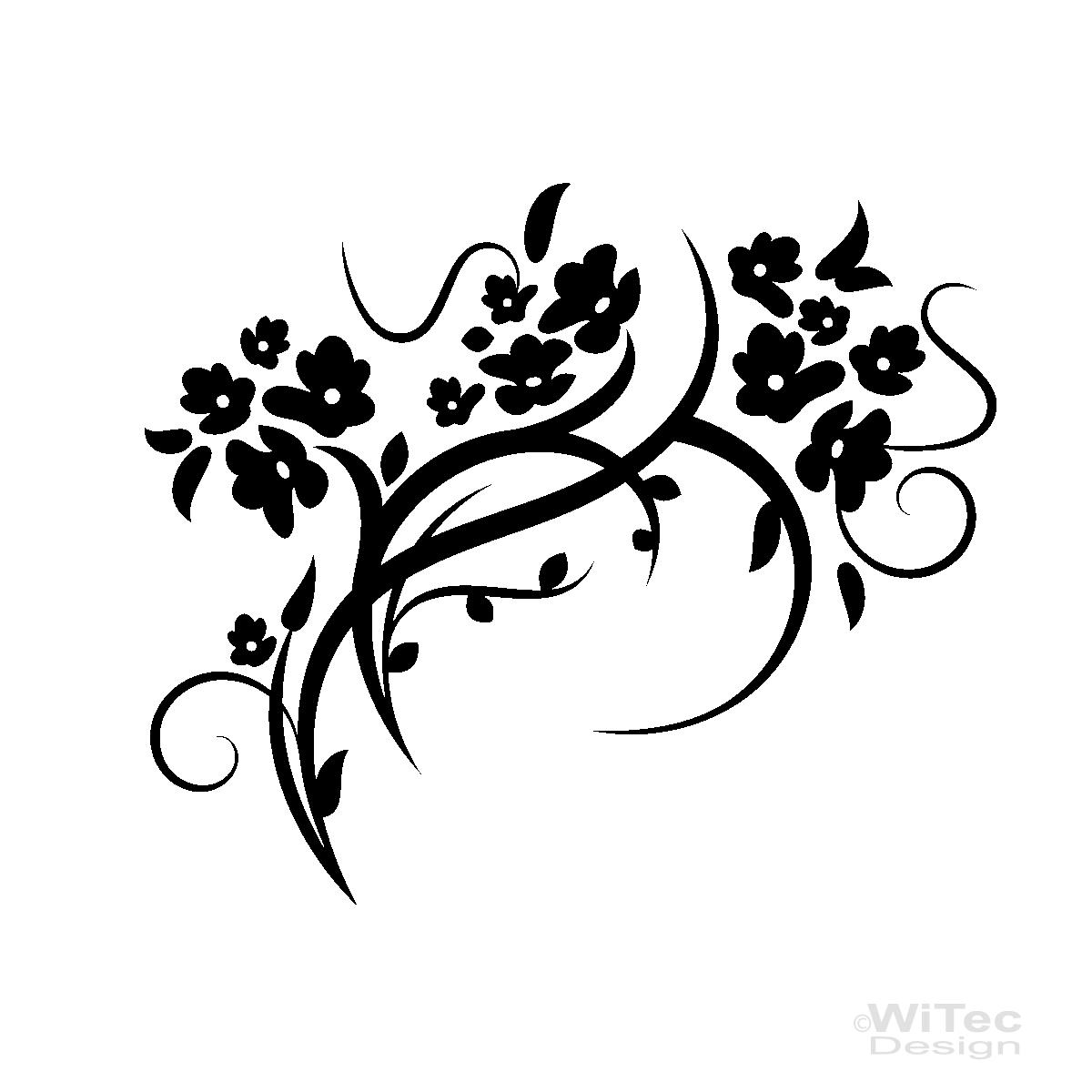 Wandaufkleber BLUMENRANKE Aufkleber Wandtattoo