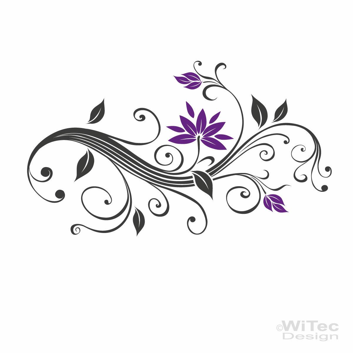 Blumenranke wandtattoo wandaufkleber blumen ranke for Wandtattoo blumenranke