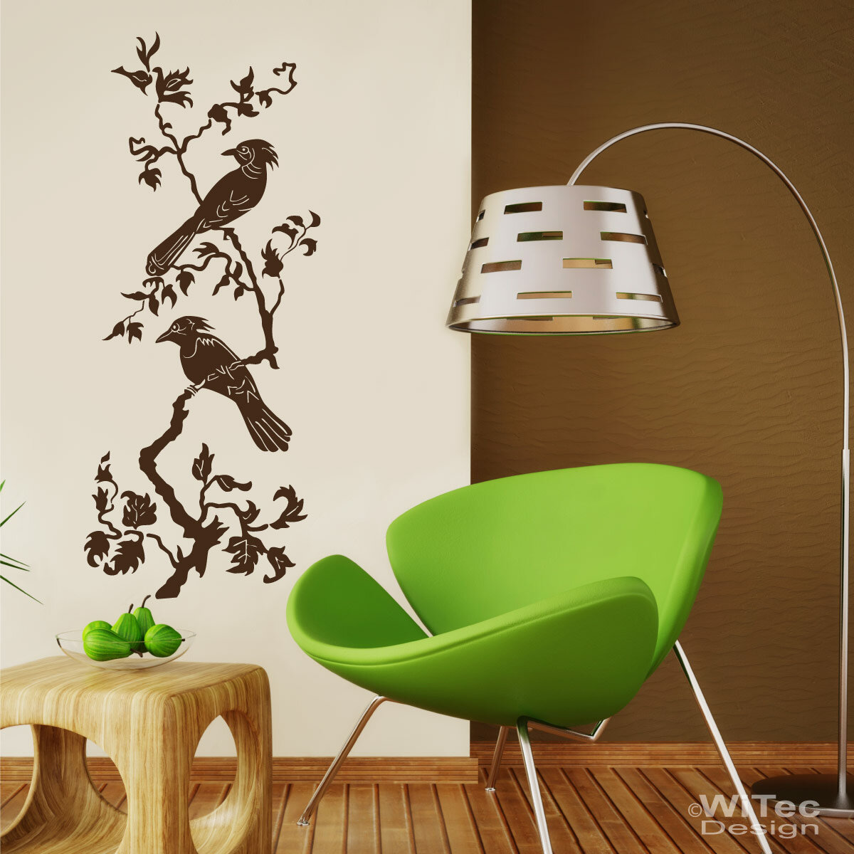 wandtattoo vogel baum wandaufkleber. Black Bedroom Furniture Sets. Home Design Ideas