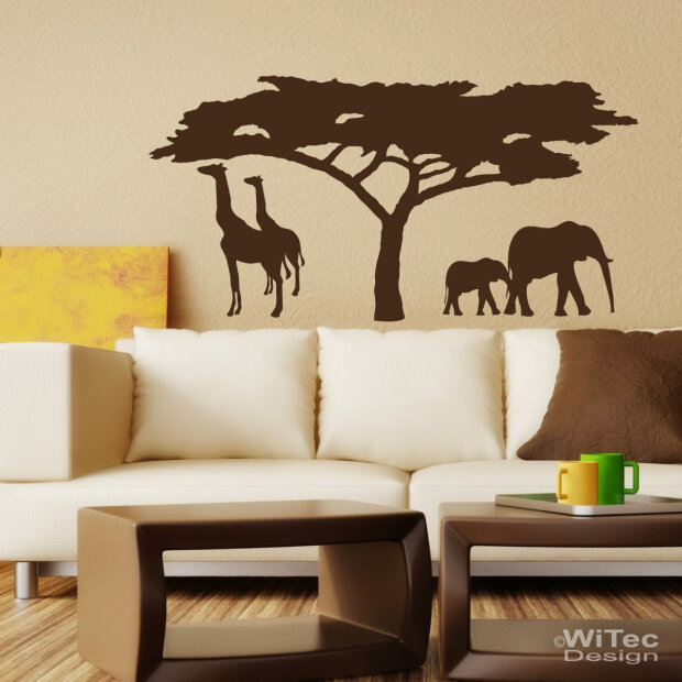 wandtattoo afrika wandaufkleber. Black Bedroom Furniture Sets. Home Design Ideas