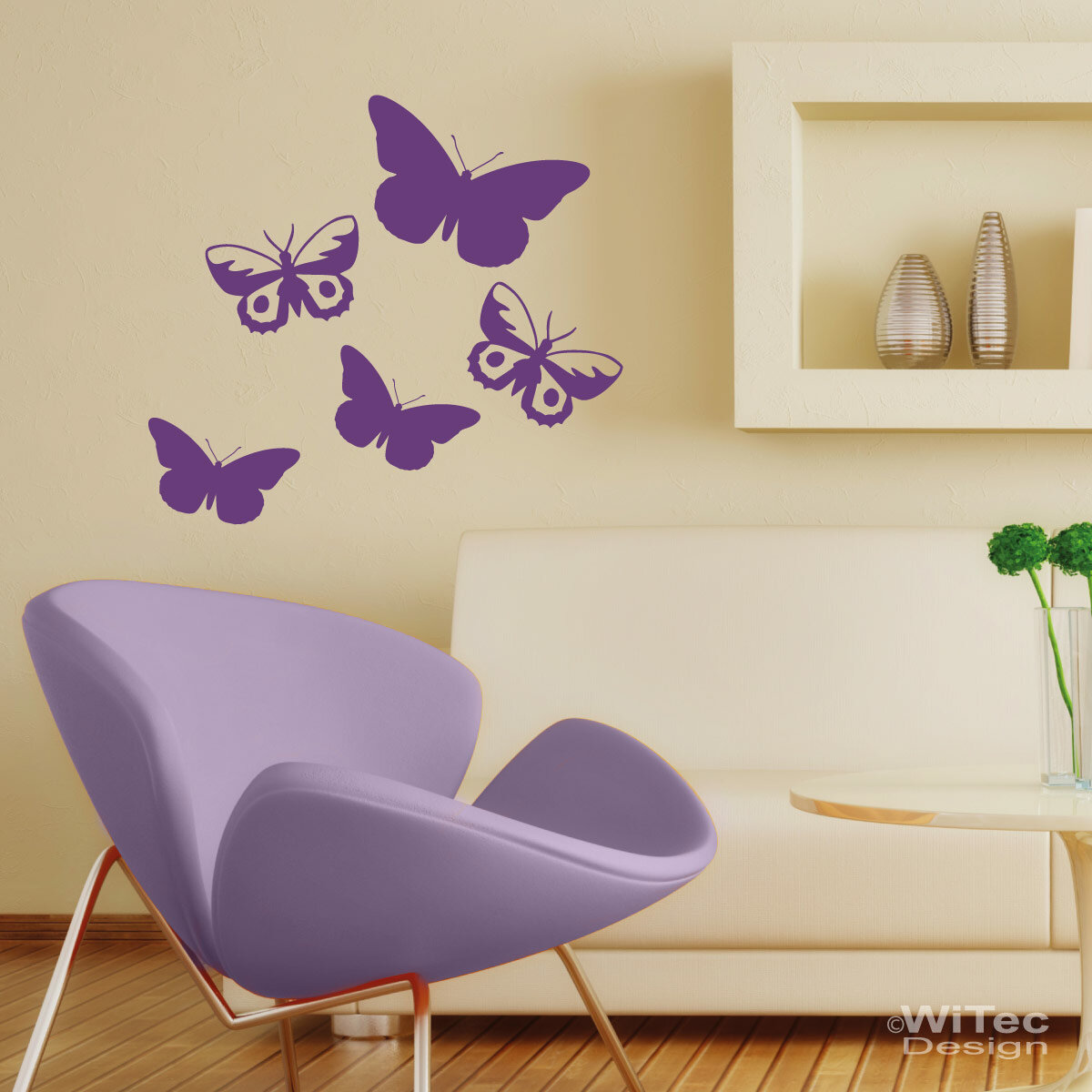 wandtattoo schmetterling wandaufkleber set. Black Bedroom Furniture Sets. Home Design Ideas