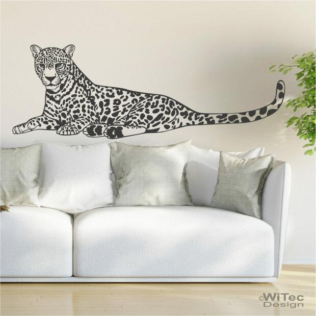 Wandtattoo leopard wandaufkleber afrika - Wandtattoos afrika style ...