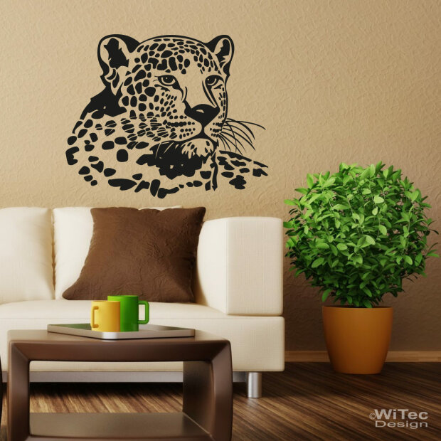Wandtattoo leopard afrika - Wandtattoos afrika style ...