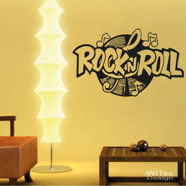 wandtattoo rock n roll wandaufkleber. Black Bedroom Furniture Sets. Home Design Ideas