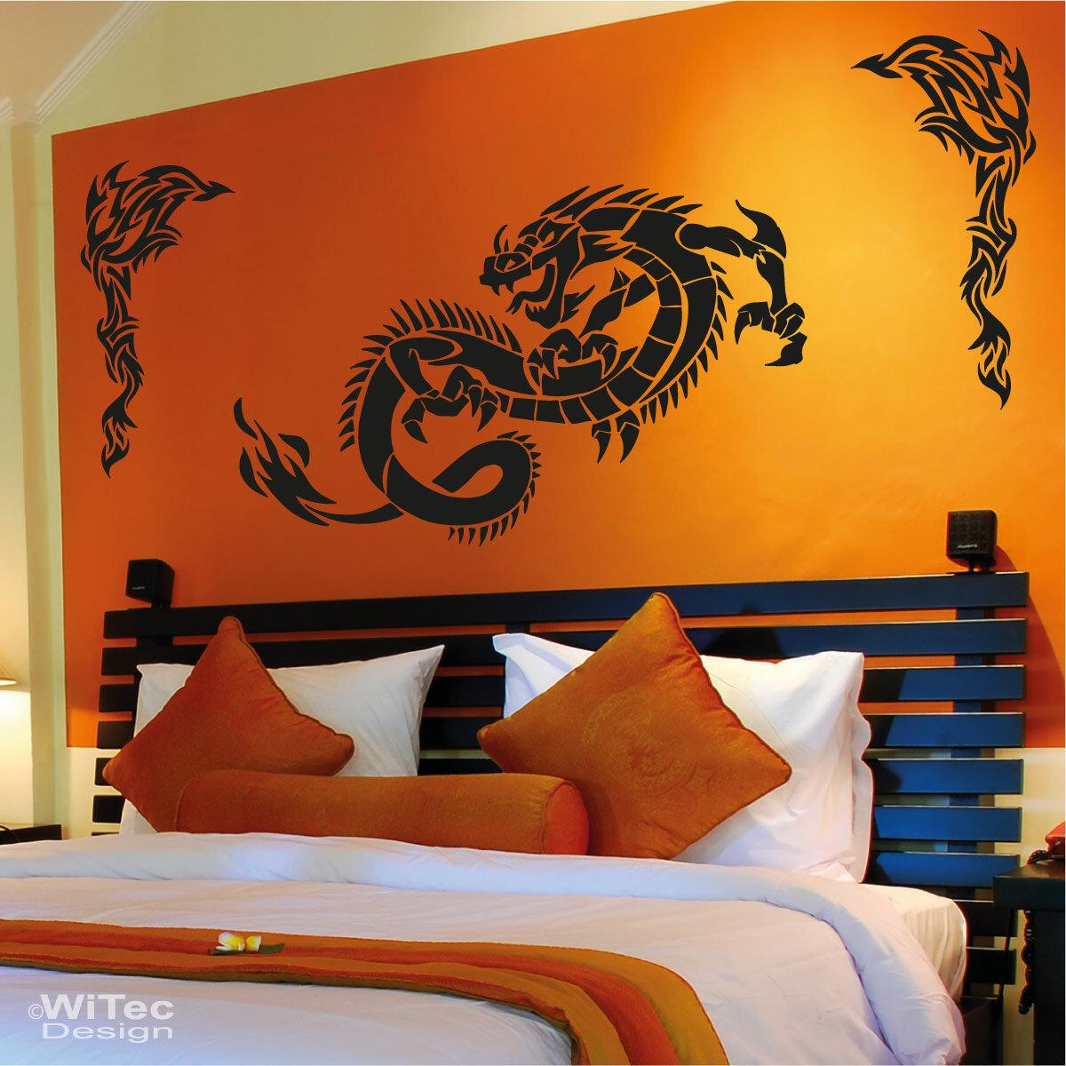 wandtattoo drache tribals wandaufkleber. Black Bedroom Furniture Sets. Home Design Ideas