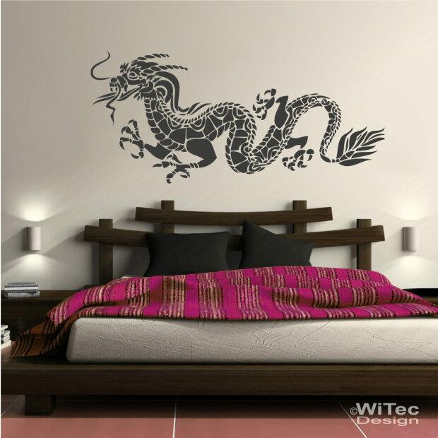 wandaufkleber drachen aufkleber walltattoo asia. Black Bedroom Furniture Sets. Home Design Ideas