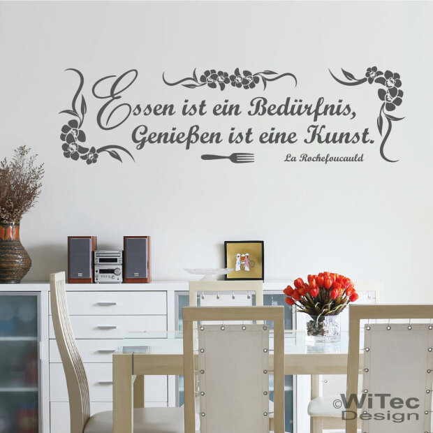wa071 wandtattoo essen wandaufkleber wandfolie. Black Bedroom Furniture Sets. Home Design Ideas