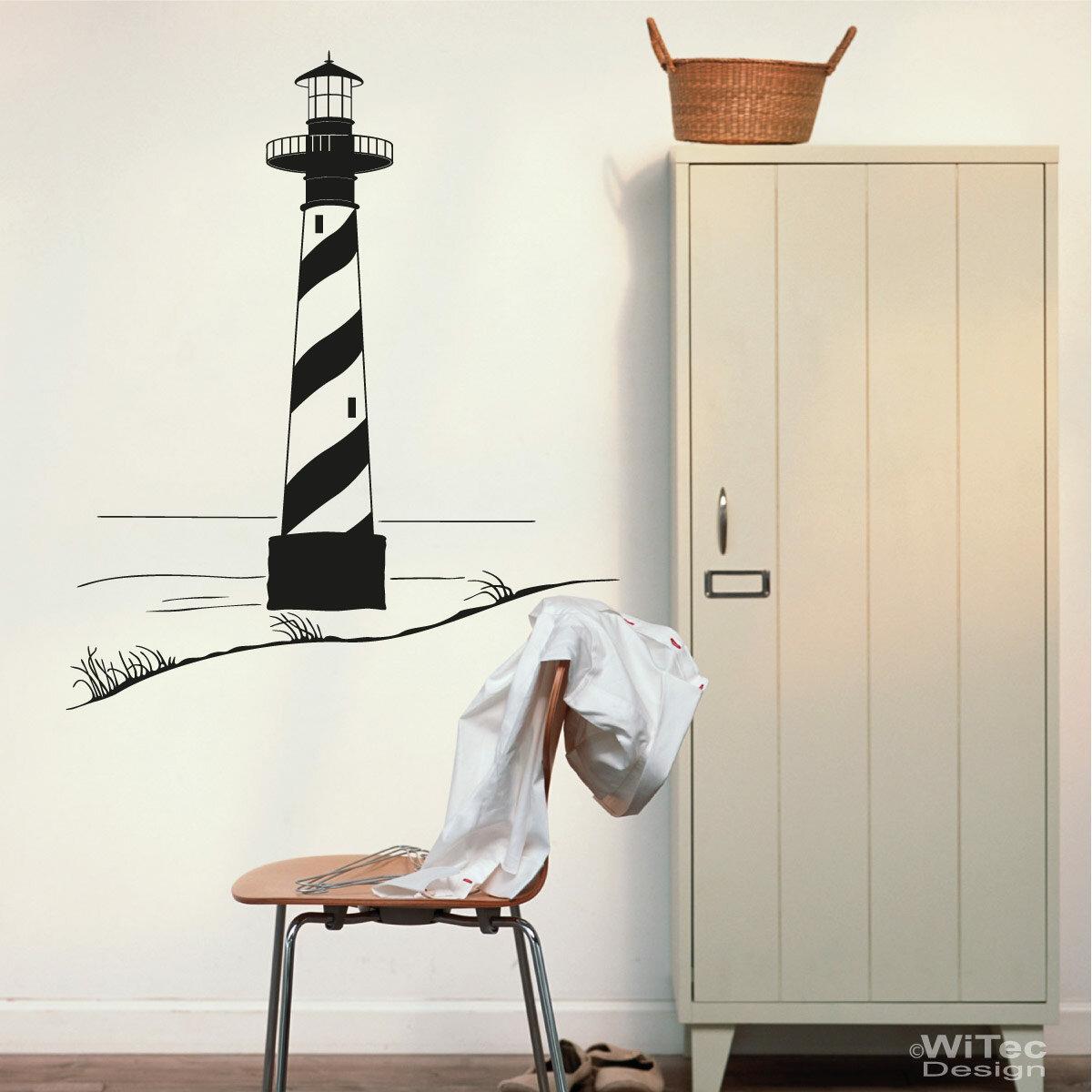 wandtattoo leuchtturm maritim wandaufkleber. Black Bedroom Furniture Sets. Home Design Ideas
