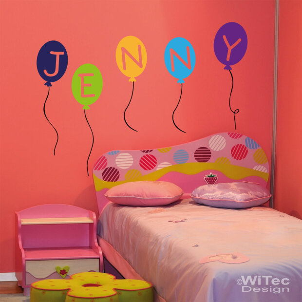 wa134 wandtattoo luftballon wandaufkleber ballon kind. Black Bedroom Furniture Sets. Home Design Ideas