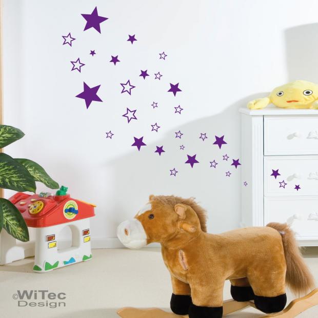 Wandtattoo Sterne Kinderzimmer Wandsticker