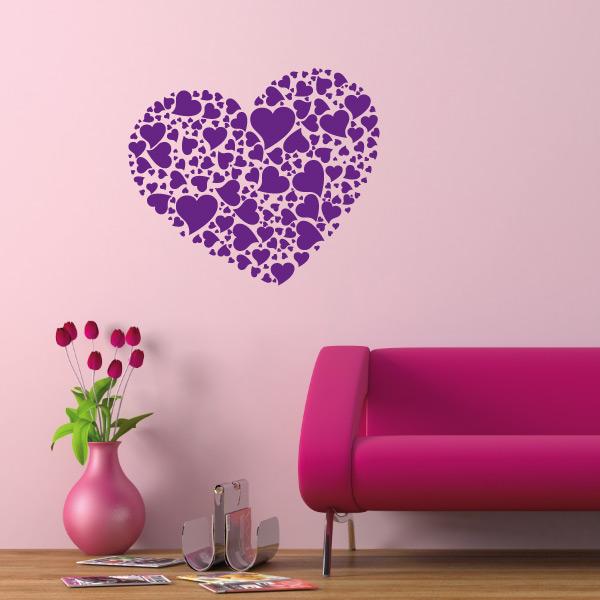 wandtattoo herz wandaufkleber liebe herzen. Black Bedroom Furniture Sets. Home Design Ideas