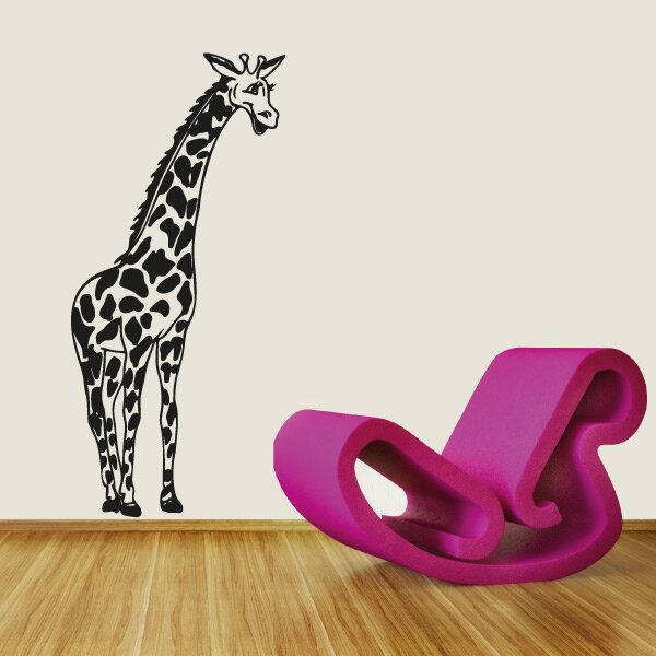 wandtattoo giraffe wandaufkleber aufkleber. Black Bedroom Furniture Sets. Home Design Ideas