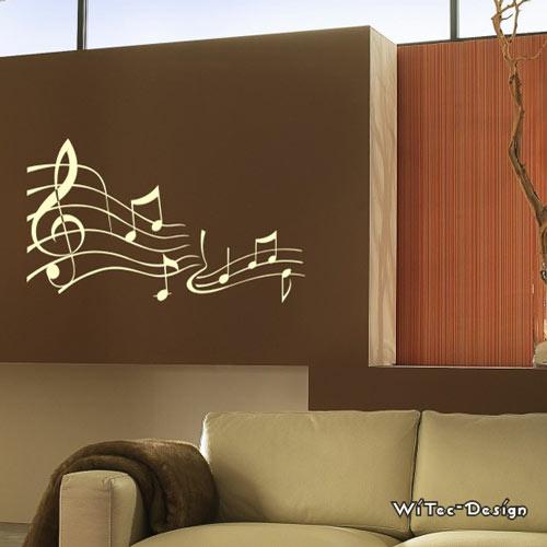 wa193 wandaufkleber noten wandtattoo musik. Black Bedroom Furniture Sets. Home Design Ideas