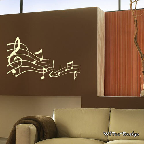 wa193 wandaufkleber noten wandtattoo musik. Black Bedroom Furniture Sets. Home Design Ideas
