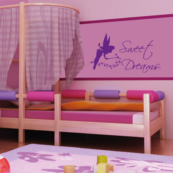 wandtattoo sweet dreams elfe sterne kinderzimmer. Black Bedroom Furniture Sets. Home Design Ideas