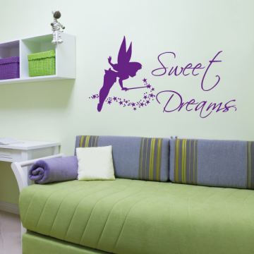 Wandtattoo Sweet Dreams Elfe Sterne Kinderzimmer