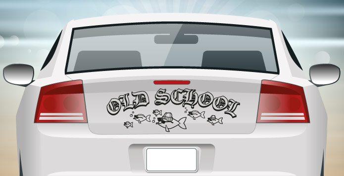 Autoaufkleber Oldschool Rockabilly abc-aufkleber.de