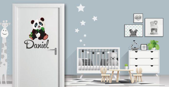 Kinderzimmer Türaufkleber voll im Trend abc-aufkleber.de