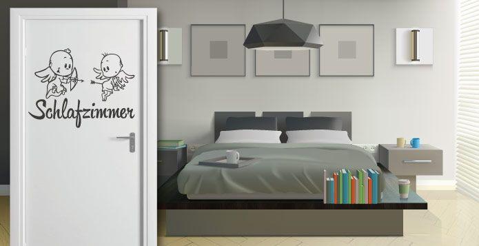 Tueraufkleber-Schlafzimmer - abc-aufkleber.de